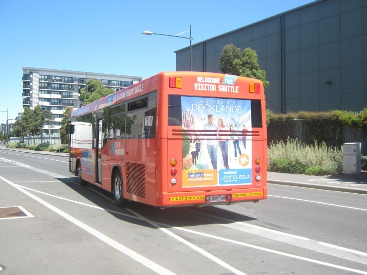 Melbourne free Scania Visitor Shuttle.